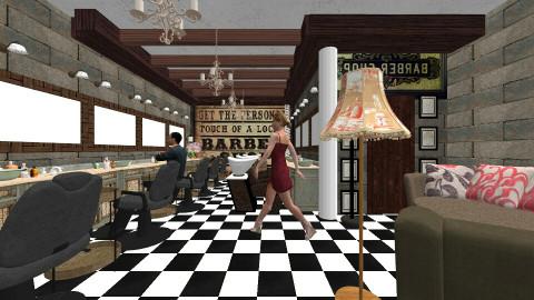 barber basement shop - Vintage - by pieter2003