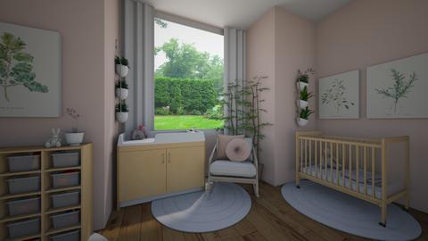 Pink Botanical Nursery - Kids room - by green42