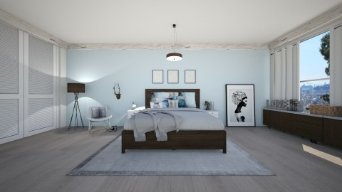 blue bedroom 1 - Bedroom - by silac26