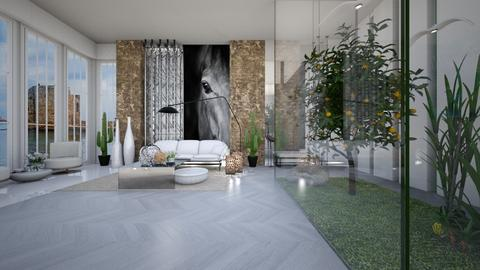 Plants In and Out - Minimal - Living room - by cosettevis