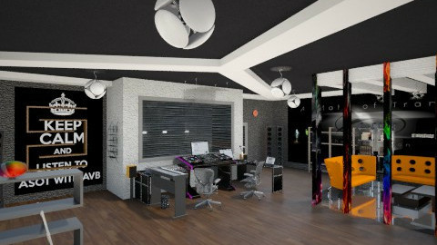 Trance music studio - Modern - by Ofiel