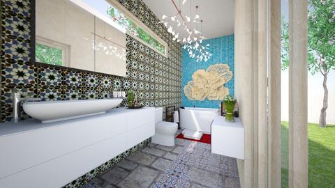 Golden Piece - Bathroom - by Isabella Enriquez Rayranht