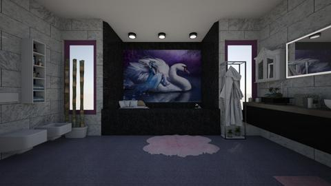 Swan Magic - Feminine - Bathroom - by mmt_regina_nox