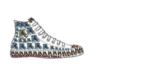 shoes in a great shoe - by Sasindee Herath