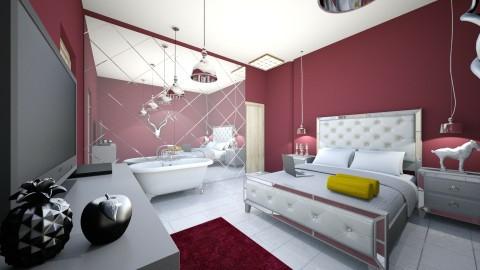 suite do casal  - Vintage - Bedroom - by kelly lucena
