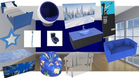 blue house moodboard - by husky interior designs