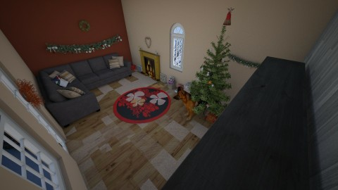 Christmas Living room - by Star_Lilly