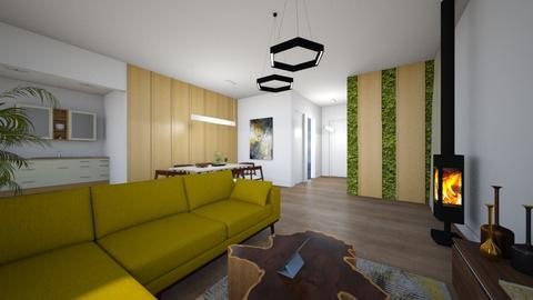 Kotedzas E - Living room - by Akmari