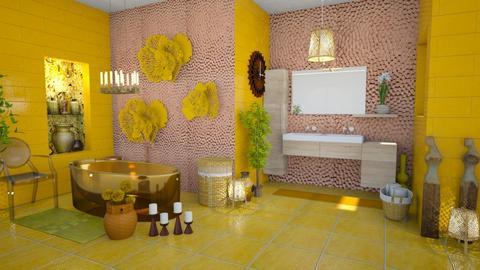 Yellow sun - Bathroom - by Moonpearl