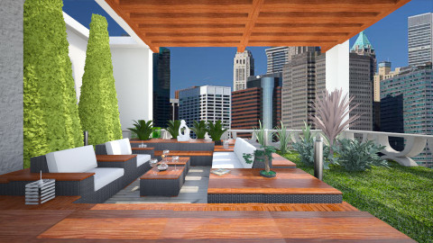 Modern rooftop - Modern - Garden - by liling