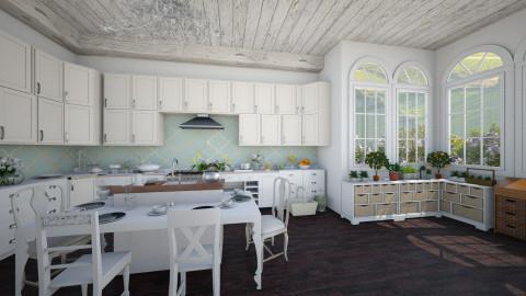farmhouse kitchen - Classic - Kitchen - by Ali Ruth