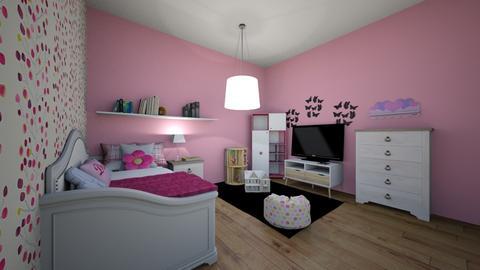 Pink everywhere - Feminine - Kids room - by elizabethwatt16
