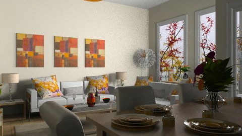 Cosy Orange Living Area - Modern - Living room - by cara_98