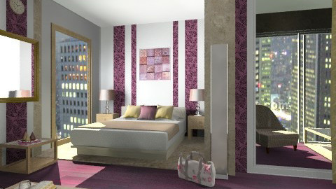 1b - Glamour - Bedroom - by idna