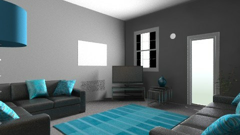turquoise 2 - Modern - Living room - by irfanx