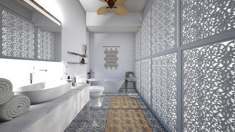 Patterns of Light Bathroom - Bathroom - by amyskouson