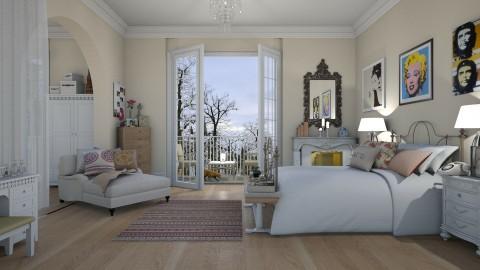 Vintage Bedroom - by annatyler08