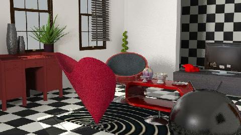 alices retro wonderland - Retro - Bedroom - by kathediva