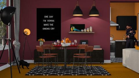 Orange Carpet - Dining room - by Mum Dali