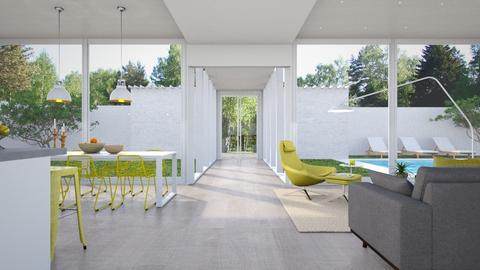 Yellow chairs - Minimal - Living room - by VALKHAN