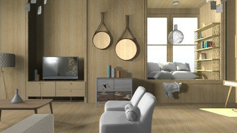 MidCentury - Retro - Living room - by camilla_saurus