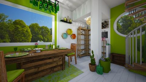 Green - Dining room - by BoundlessUniverse