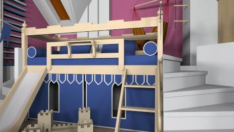 Castle Walls - Kids room - by lauren_murphy