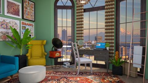 boho office - Office - by _firecrackers