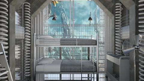 Space Room - Retro - Bedroom - by xx_cordelia_xx