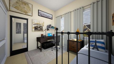 Writers Oasis Plan 2 - Bedroom - by SammyJPili