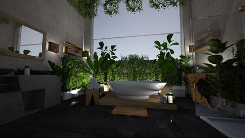 Wood and stone 38 - Bathroom - by Sofiasash