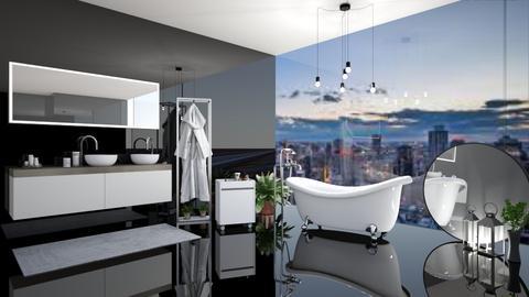 Black Bath - Glamour - Bathroom - by LeilaniD04