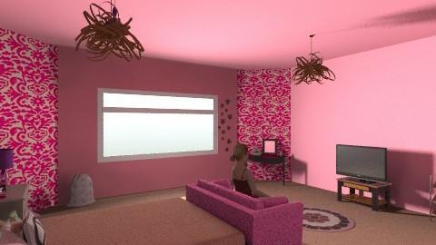 Teenage Pink - Modern - Bedroom - by BlondeGoode