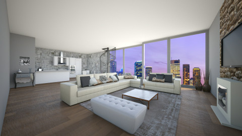 Penthouse - Modern - Living room - by Demiana Acis
