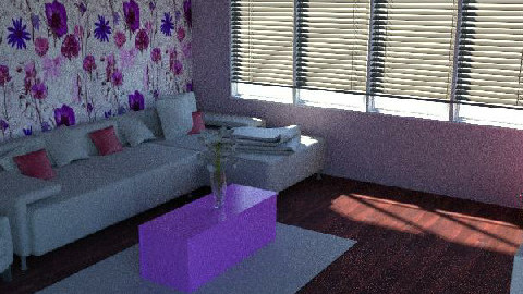 Passionately Purple - Modern - Living room - by 08Meyers