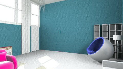tv room blue layout - Living room - by melbapink8