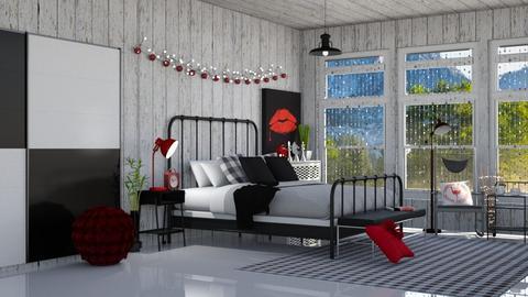 xadrez - Retro - Bedroom - by soralobo
