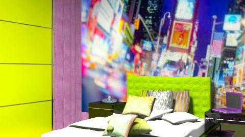 Down Town - Retro - Bedroom - by Charlotte10