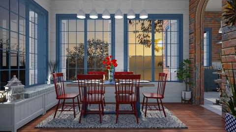 Design 434 Red and Blue Dining - Dining room - by Daisy320
