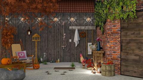 barn - Garden - by Mum Dali