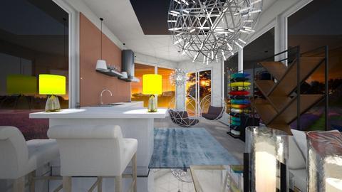 Tiny Cabin - Living room - by hellohello88