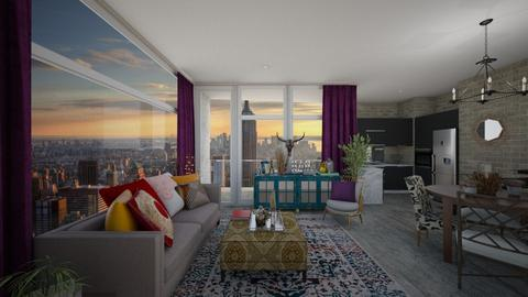 Contemporary NYC Loft - Masculine - Living room - by paluvica