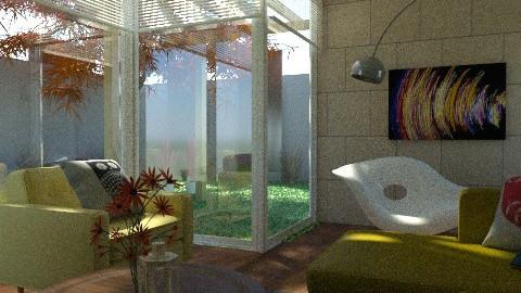 Garden View - Retro - Living room - by Baustin