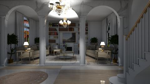 Marble Chic - Glamour - Living room - by LeilaniD04