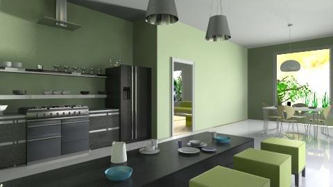 one kichen_ living room - Minimal - Kitchen - by Designerloft