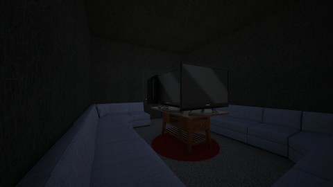TV couch room - Modern - Living room - by SparkieBunny