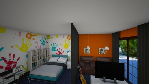 boy room - Bedroom - by marija1706