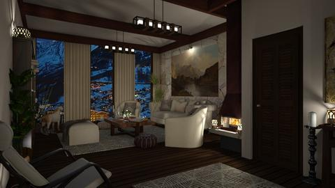 Design 396 Aspen Ski Condo - Living room - by Daisy320
