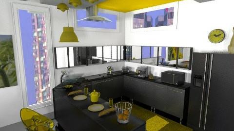 Yellow kitchen - Retro - Kitchen - by annabeth