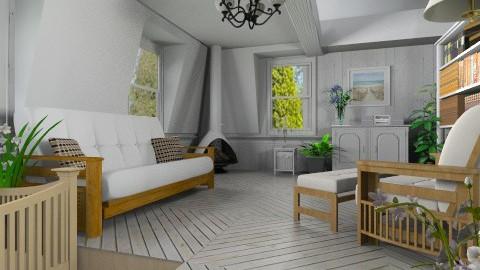 Comfy Attic - Rustic - Living room - by Bibiche